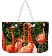 Bright Flamingos Weekender Tote Bag
