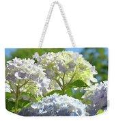 Bright Floral Art Pastel Blue Purple Hydrangeas Flowers Baslee Troutman Weekender Tote Bag