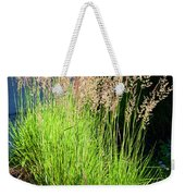 Bright Green Grass By The Pond Weekender Tote Bag