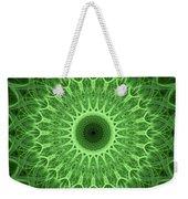 Bright Green Mandala Weekender Tote Bag