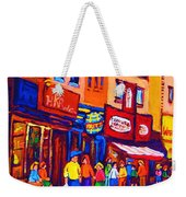 Bright Lights On The Main Weekender Tote Bag