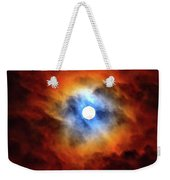 Bright Moon And Dark Clouds Weekender Tote Bag