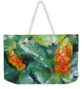 Bright Orange Blooms On A Plant Weekender Tote Bag