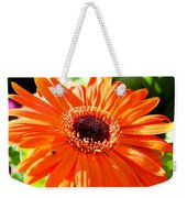 Bright Orange Gerbera  Weekender Tote Bag