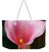 Bright Pink Calla Weekender Tote Bag