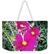Bright Pink Flowers Weekender Tote Bag