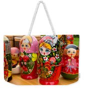 Bright Russian Matrushka Puzzle Dolls Weekender Tote Bag