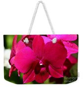 Bright Scarlet Red Orchid Weekender Tote Bag