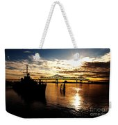 Bright Time On The River Weekender Tote Bag