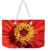 Bright Zinnia Weekender Tote Bag