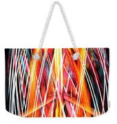 Brightly Colored Abstract Light Painting At Night From The Fireb Weekender Tote Bag