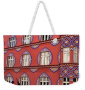 Brightly Colored Cooperative Business Bank Building Or Vurnik Ho Weekender Tote Bag