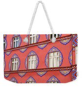 Brightly Colored Facade Of Cooperative Business Bank Building Or Weekender Tote Bag