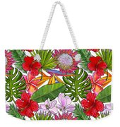 Brightly Colored Tropical Flowers And Ferns  Weekender Tote Bag