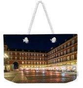 Brightly Lit Midnight - Plaza Mayor In Madrid Spain Weekender Tote Bag