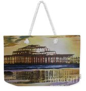 Brighton West Pier Weekender Tote Bag