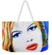 Brigitte Bardot Pop Art Portrait Weekender Tote Bag