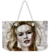 Brigitte Bardot, Vintage Actress Weekender Tote Bag