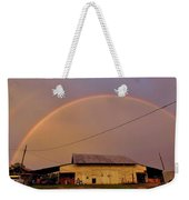 Brilliant Evening Double Rainbow Weekender Tote Bag