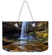 Brilliant Fall Waterfall At Cloudland Canyon Weekender Tote Bag
