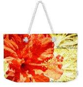 Brilliant Hibiscus Weekender Tote Bag
