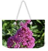 Brilliant Pink Blooming Phlox Flowers In A Garden Weekender Tote Bag
