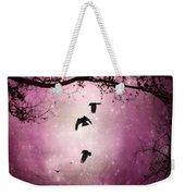 Brilliant Pink Surreal Sky Weekender Tote Bag