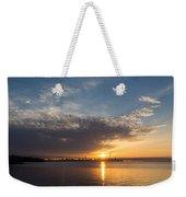 Brilliant Toronto Skyline Sunrise Over Lake Ontario Weekender Tote Bag