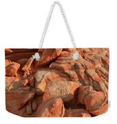 Brilliantly Colored Sandstone At Sunrise In Valley Of Fire Weekender Tote Bag