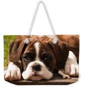 Brindle Boxer Pup Weekender Tote Bag