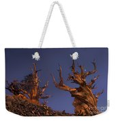 Bristlecone Pines At Sunset With A Rising Moon Weekender Tote Bag