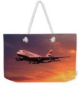 British Airways A380 G-xlef Weekender Tote Bag