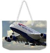 British Airways Airbus A380 Weekender Tote Bag