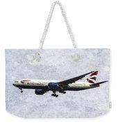 British Airways Boeing 777 Art Weekender Tote Bag