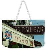 British Bar Britanica  Weekender Tote Bag