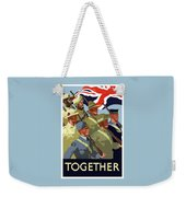 British Empire Soldiers Together Weekender Tote Bag