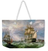 British Men-o'-war Sailing Into Cork Harbour  Weekender Tote Bag