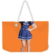 British Navy Blue Pin Up Girl Saluting Weekender Tote Bag