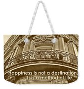 British Relief Quote Weekender Tote Bag