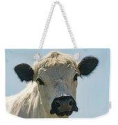 British White Cow Weekender Tote Bag