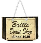 Britt's Donut Shop Sign 3 Weekender Tote Bag