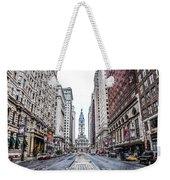 Broad Street Facing City Hall In Philadelphia Weekender Tote Bag