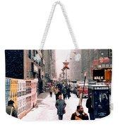 Broadway And 42nd Street 1985 Weekender Tote Bag