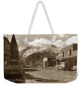 Broadway In Skagway Alaska Street Scene Circa 1957 Weekender Tote Bag