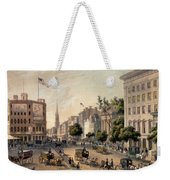 Broadway In The Nineteenth Century Weekender Tote Bag by Augustus Kollner