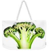Broccoli Cutaway On White Weekender Tote Bag
