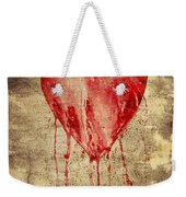 Broken And Bleeding Heart On The Wall Weekender Tote Bag