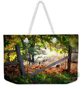 Broken Fence In Sycamore Park Weekender Tote Bag