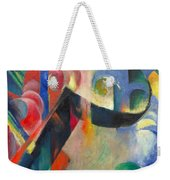 Broken Forms By Franz Marc Modern Bright Colored Painting  Weekender Tote Bag