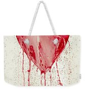 Broken Heart - Bleeding Heart Weekender Tote Bag
